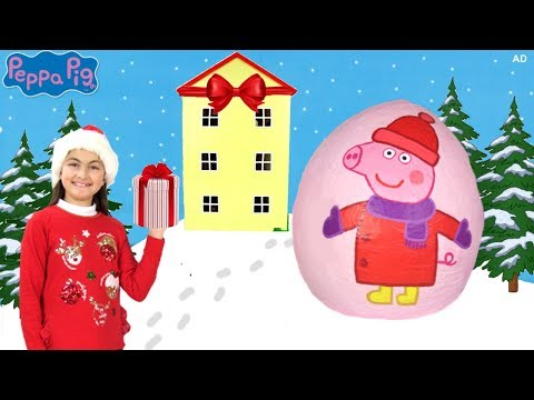 Peppa Pig  Peppa's New House! 🏠🎄 Peppa Pig English Episodes 🎄2017  Peppa Pig Toys GIVEAWAY