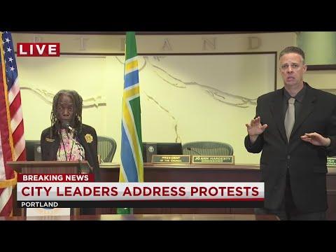 Press Conference: Portland Leaders Address Violent Protests For George Floyd