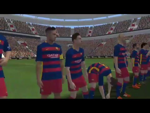PES  CLUB MANAGER Session 5 VS Barcelona on match II