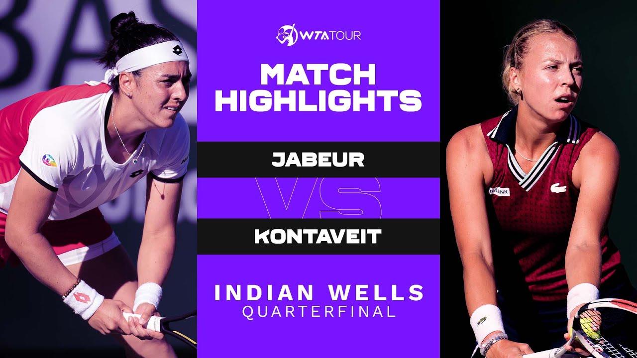 Download Ons Jabeur vs. Anett Kontaveit | 2021 Indian Wells Quarterfinal | WTA Match Highlights
