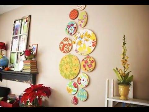 Креативные  идеи для дома тарелки на стенах