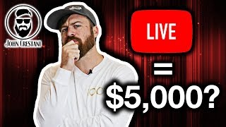 How To Make $5,000 Per Hour Live Streaming (On YouTube)