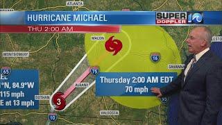 Super Doppler 10 Evening Update (Tracking Hurricane Michael)