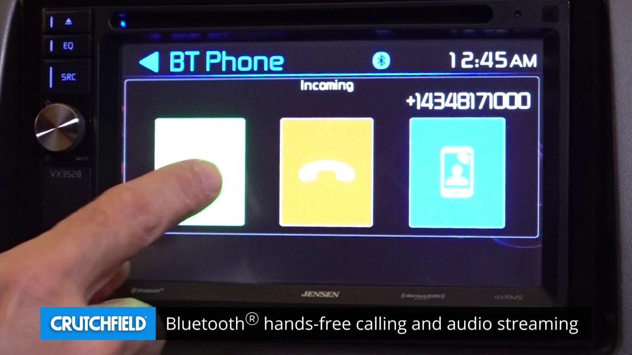Jensen Vx3528 Display And Controls Demo Crutchfield Video Youtube Audio
