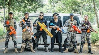 LTT Nerf War : Police Guard SEAL X Warriors Nerf Guns Fight Criminal Group Dr.Lee Crazy
