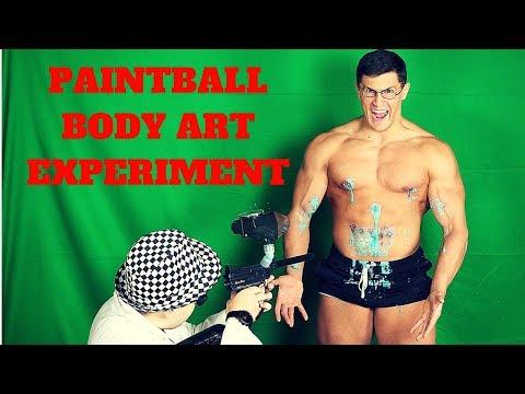 Paintball Gun BODY ART Experiment Fail *CRAZY WOUNDS* | Insane Paintball Guns Experiment GONE WRONG