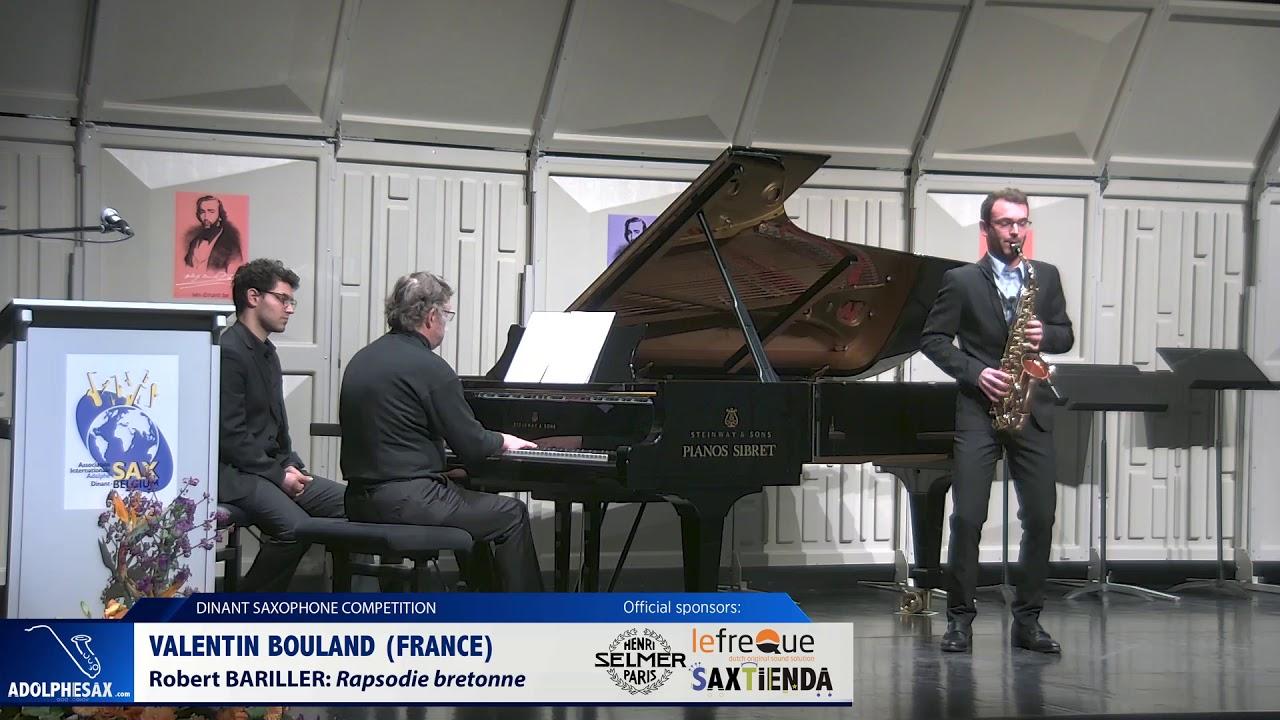 Valentin Bouland (France) - Rapsodie bretonne by Robert Bariller (Dinant 2019)