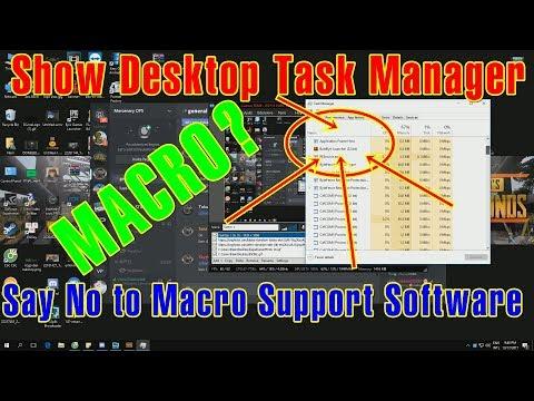 Show Desktop Task Manager | I Hate Software Support MACROS - RIP113