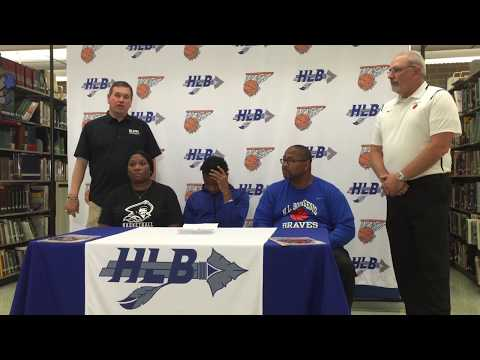 H.L. Bourgeois star basketball player AJ Rainey signs with Blinn College