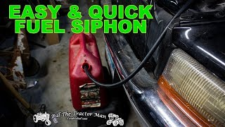 how to siphon gas from any vehicle easily