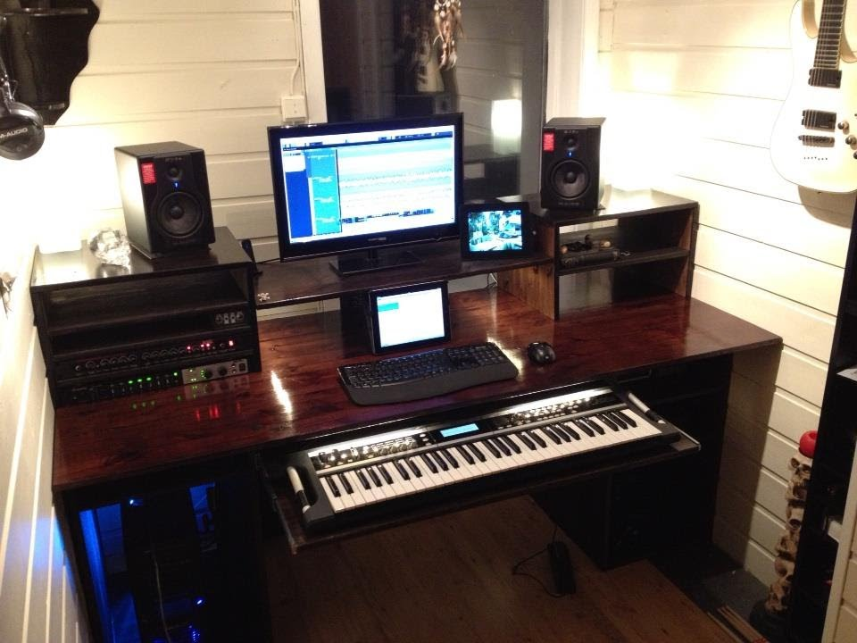 Ordinaire My U0027Build A Home Studio Recording Desku0027 Result. (Workstation)