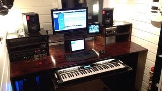 My 'build A Home Studio Recording Desk' Result. (workstation)
