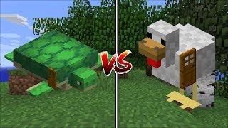 Minecraft CHICKEN HOUSE VS TURTLE HOUSE MOD / FIND OUT WHICH IS THE BEST TO SURVIVE IN !! Minecraft