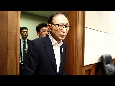 South Korea's former president Lee Myung-bak on trial