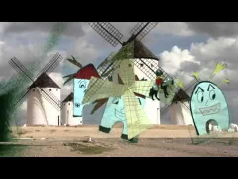 Don quijote y los molinos de viento youtube for Piscina molino de viento y sombrilla