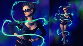 How to Create/Make Glowing | Abstract Lighting | Neon Lines | Light streaks in adobe Photoshop