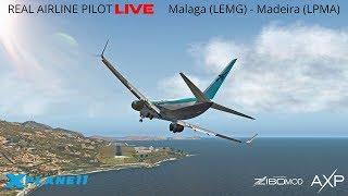 X-Plane 11 | Real Airline Pilot LIVE (ZIBO MOD 737) | Málaga – Madeira | FUNCHAL FUN!
