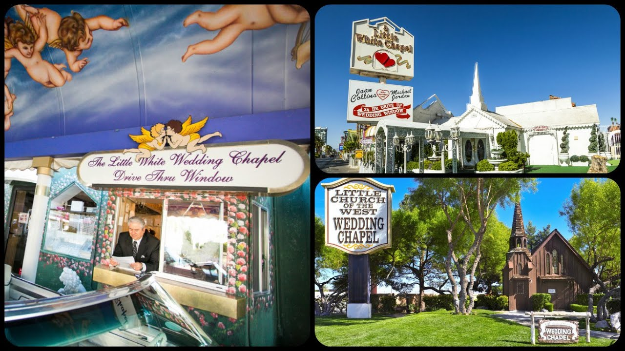 A Selection Of Wedding Chapels In Las VegasIncluding A Drive Thru Chapel