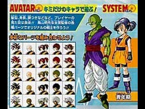 dragon ball z ultimate tenkaichi character creation youtube