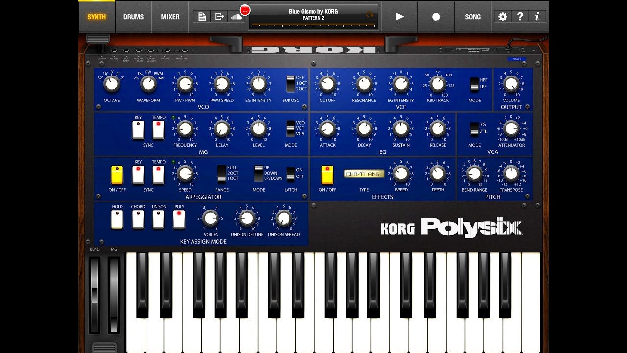 Korg iPolysix The BIG Soundtest Demo for the iPad 2016