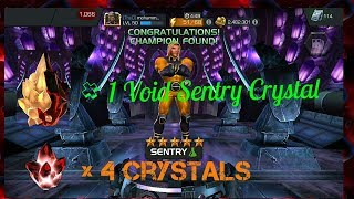 1x Void 5 Star Sentry Crystal Opening and Star heros crystal - Marvel Contest of Champions Sentry