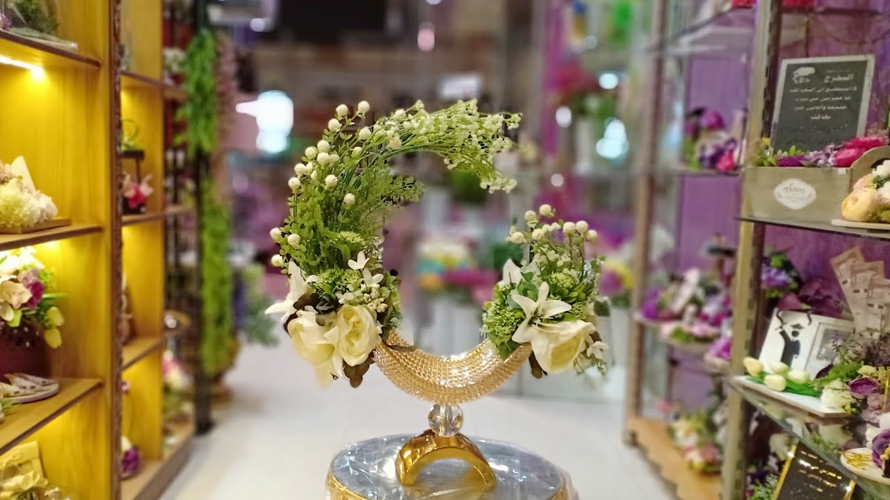 Artificial Flower Arrangement In Vase Youtube