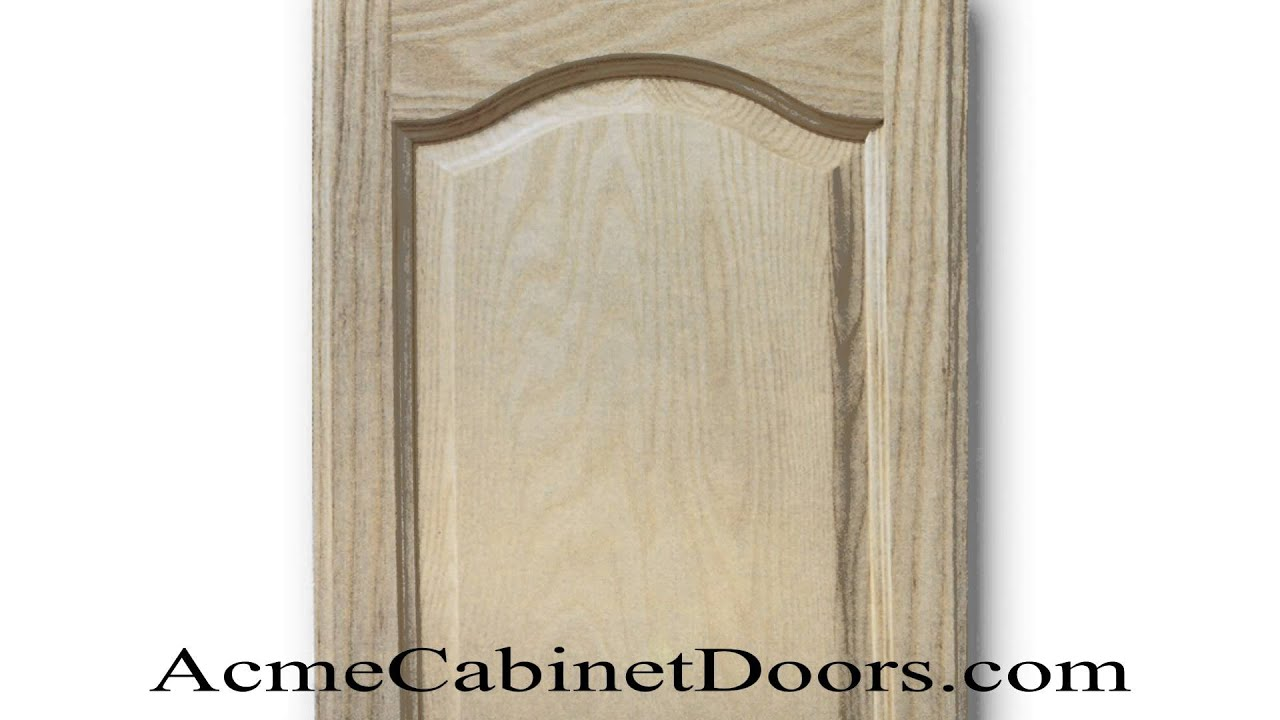 Unfinished Ash Cathedral Arched Raised Panel Cabinet Door Youtube