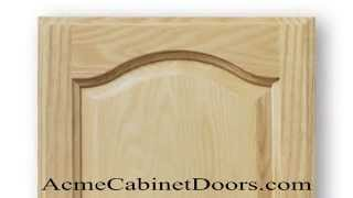 Unfinished Ash Cathedral Arched Raised Panel Cabinet Door