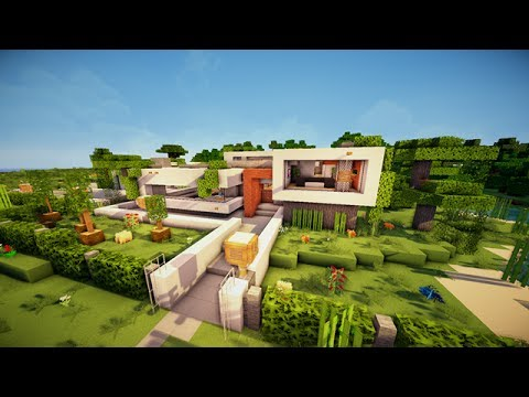 Minecraft maison moderne by jakecrafts53 youtube for Maison classique minecraft