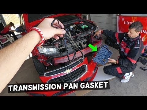 TRANSMISSION OIL PAN GASKET REPLACEMENT CHEVROLET CRUZE CHEVY SONIC  TRANSMISSION LEAK