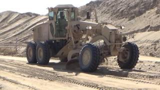 Motor Grader operating! 12n horizontal construction engineer!