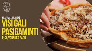 VISI GALI PASIGAMINTI: Pica varškės padu