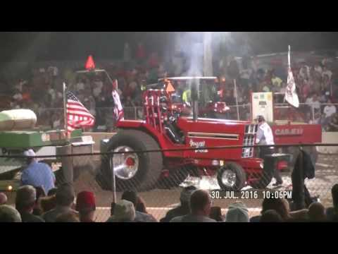LIGHT PRO STOCK TRACTORS NTPA FORT RECOVERY, OHIO PULL JULY 30, 2016