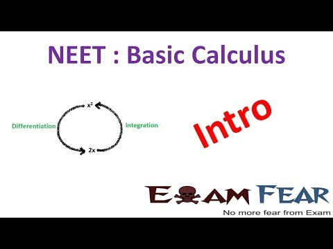 NEET Physics Basic Differentiation Integration