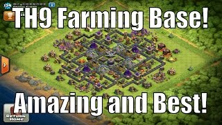 Clash Of Clans | Town Hall Level 9 Farming Base Review! | Mr_toeknee