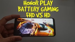 Huawei Honor Play - HD+ vs FHD+ Battery Drain Test! (Gaming)