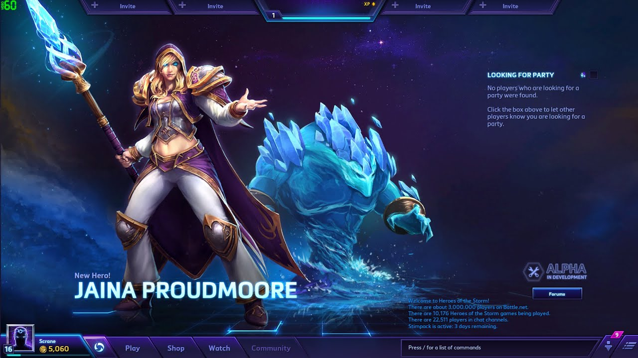Heroes Of The Storm All Characters And Skins Jaina Patch