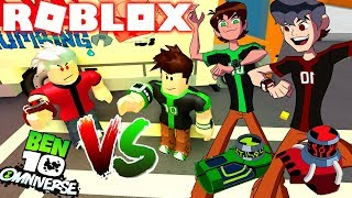ROBLOX ! BEN 10 - OMNITRIX DO BEN 10 VS OMNITRIX DO MAL BEN REVERSO ALBEDO - BEN 10 FIGHTING GAMES
