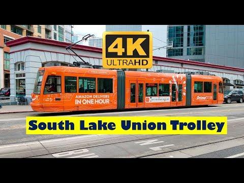 Seattle Washington South Lake Union Trolley 4K UHD
