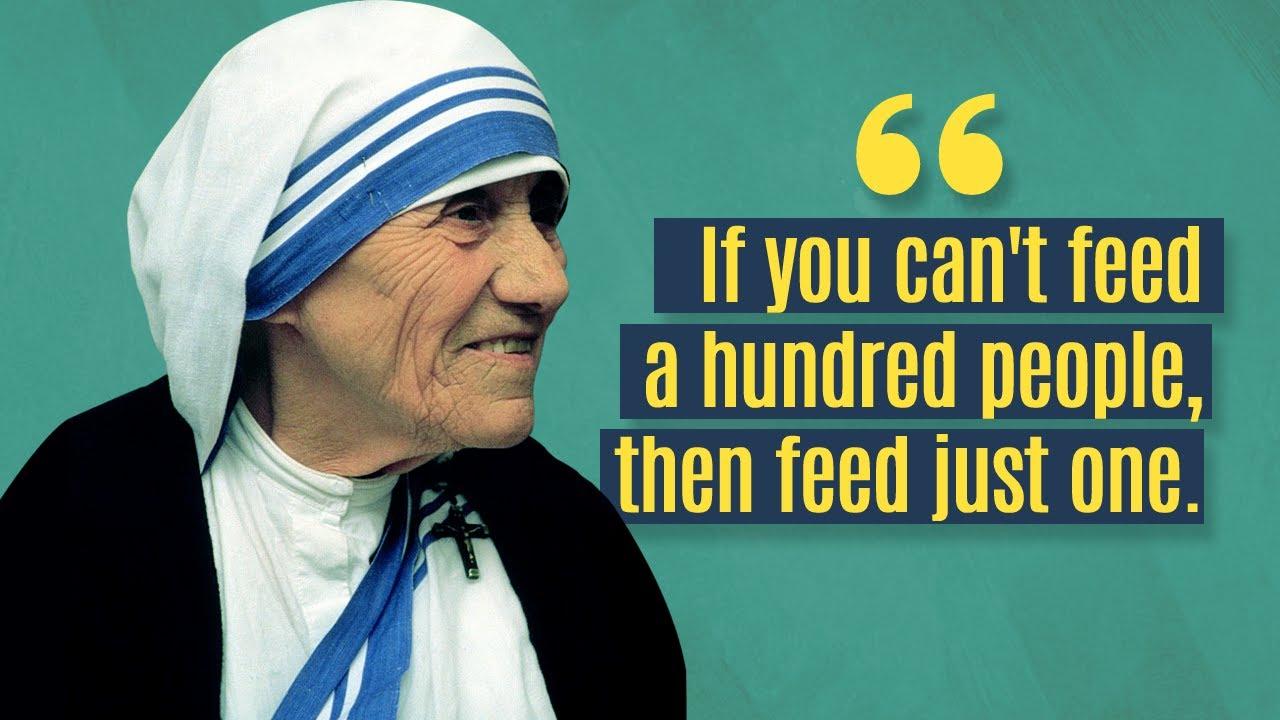 Top 10 Inspiring Mother Teresa Quotes Youtube