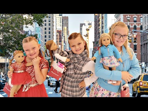 24 HOURS In NEW YORK CITY With Our American Girl Dolls!