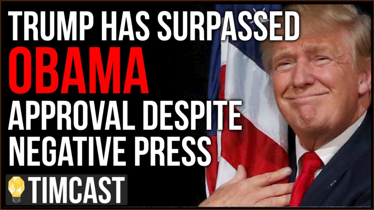 Tim Pool Trump Has SURPASSED Obama Approval Despite 92% Negative Press, Democrats FLIPPING Republica