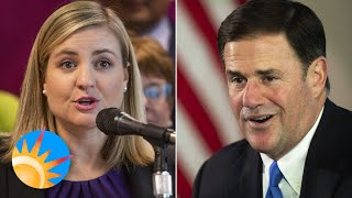 Phoenix Mayor Kate Gallego is sniping Gov. Doug Ducey on masks, even if they agree