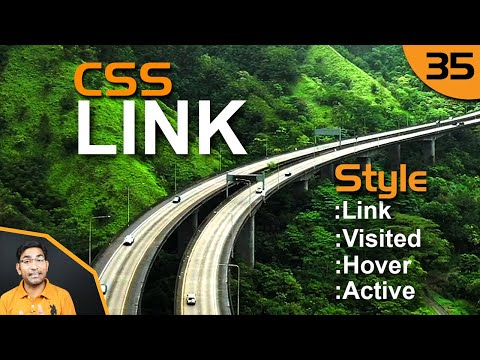 How To Style Html Hyperlink | Link | Visited | Hover | Active | In CSS - 35