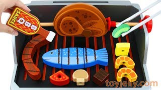 Velcro Cutting BBQ Grill Toy Learn Fruits & Vegetables Baby Toys kKinder Surprise Eggs for Kids