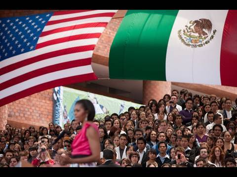 First Lady Michelle Obama Speaks to Youth in Mexico City