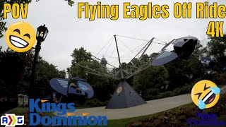 Flying Eagles In 4K | Off Ride | Kings Dominion | 2018 |