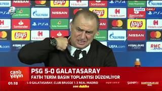 <b>PSG</b> 5 - 0 Galatasaray Fatih Terim Maç Sonu Basın Toplantısı ...