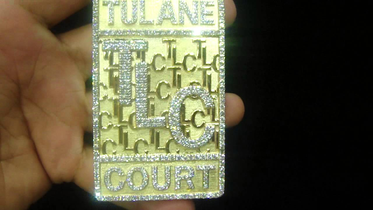 Real gold real diamond bar custom pendant m4h06594 youtube aloadofball Image collections