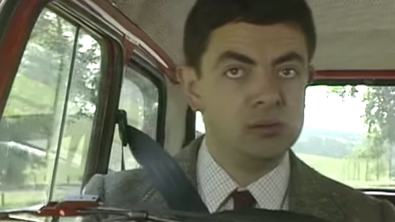 First Ever Reliant Robin Crash Mr Bean Official Youtube